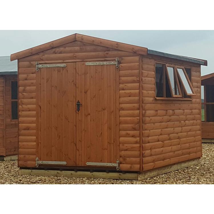 Super duty 22mm loglap garden sheds for Garden shed 12x10